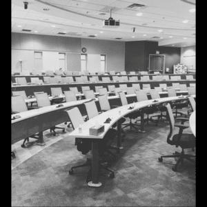 University of Auburn Veterinary Classroom empty due to the COVID-19 pandemic