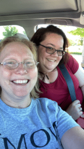 Selfie of NOMV Advocates Dr. Melanie Goble and Kelly Drescher Johnson